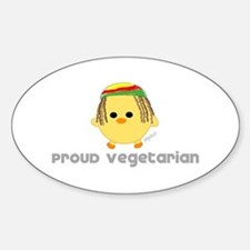 Proud Rasta Vegetarian Oval Stickers
