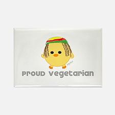Proud Rasta Vegetarian Rectangle Magnet
