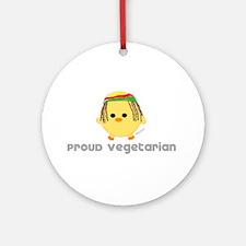 Proud Rasta Vegetarian Ornament (Round)