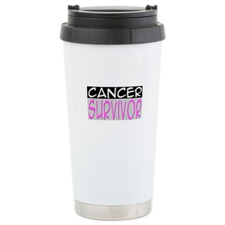 'Cancer Survivor' Stainless Steel Travel Mug