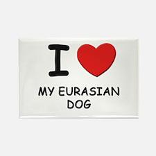 I love MY EURASIAN DOG Rectangle Magnet (10 pack)