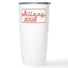 Neon Red Hillary 2008 Travel Mug