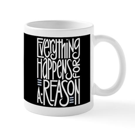 Everything Happens Black Mug