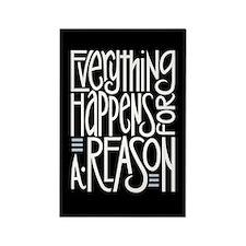 Everything Happens Black Rectangle Magnet (10 pack