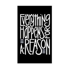 Everything Happens Black Rectangle Decal