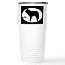 Saint Bernard Silhouette Travel Mug