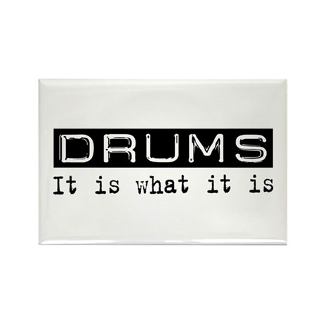 Drums Is Rectangle Magnet