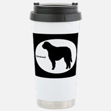 Otterhound Silhouette Travel Mug