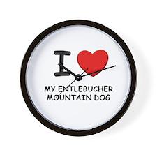 I love MY ENTLEBUCHER MOUNTAIN DOG Wall Clock