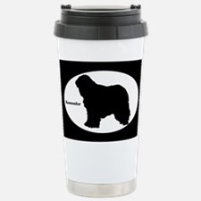Komondor Silhouette Stainless Steel Travel Mug
