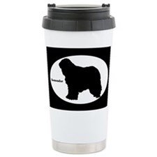 Komondor Silhouette Travel Mug