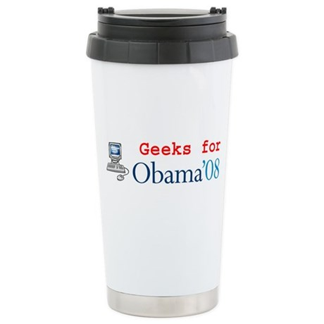 Computer Geeks for Obama Stainless Steel Travel Mu