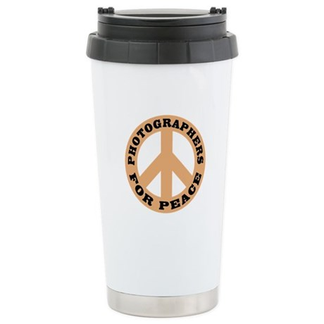Photographers For Peace Stainless Steel Travel Mug