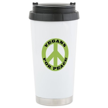 Vegans For Peace Stainless Steel Travel Mug