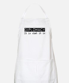 Diplomacy Is BBQ Apron