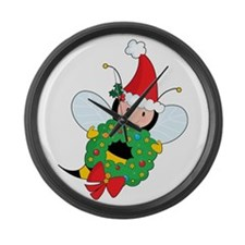 Bee Christmas Large Wall Clock