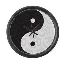 Ying Yang Yoga Large Wall Clock