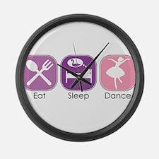 Eat Sleep Dance Large Wall Clock