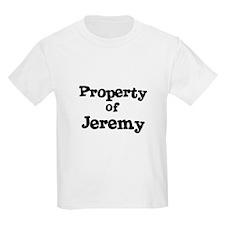 Property of Jeremy Kids T-Shirt