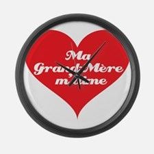 Grandma Loves Me (French) Large Wall Clock