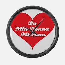 Grandma Loves Me (Italian) Large Wall Clock