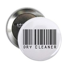 """Dry Cleaner Barcode 2.25"""" Button"""