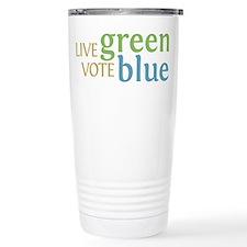 Live Green Vote Blue Travel Mug