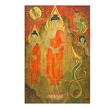 Sun buddhas naga Postcards (Package of 8)