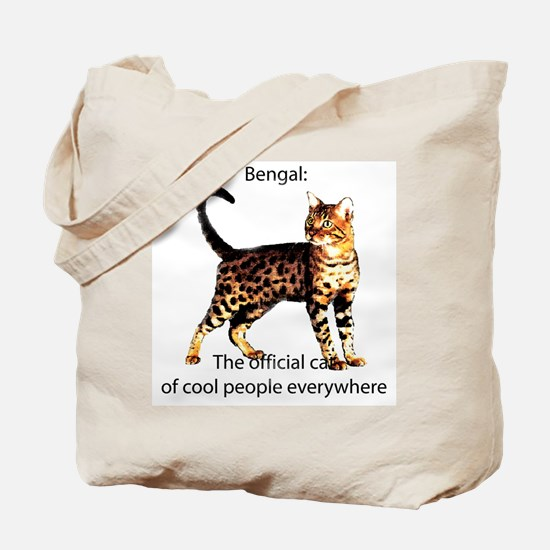 Cool people love bengals Tote Bag