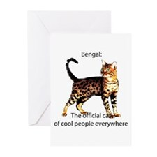 Cool people love bengals Greeting Cards (Package o