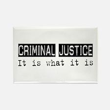 Criminal Justice Is Rectangle Magnet