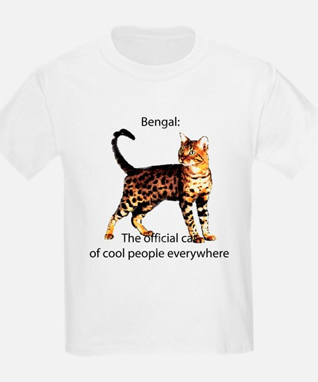 Cool people love bengals Kids T-Shirt