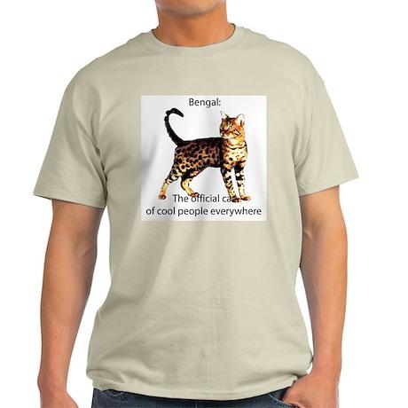 Cool people love bengals Ash Grey T-Shirt