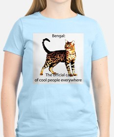 Cool people love bengals Women's Pink T-Shirt