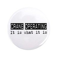 """Crane Operating Is 3.5"""" Button (100 pack)"""