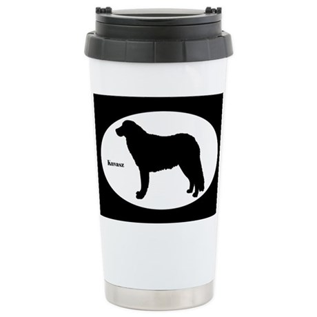 Kuvasz Silhouette Stainless Steel Travel Mug