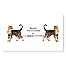 Cool people love bengals Rectangle Decal