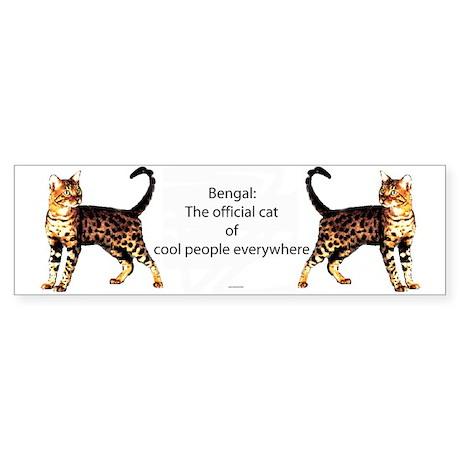 Cool people love bengals Bumper Sticker