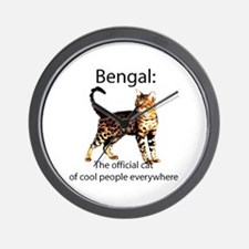 Cool people love bengals Wall Clock