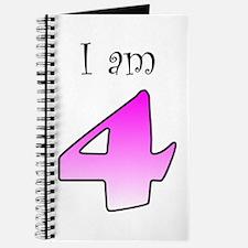 I am 4 (pink) Journal