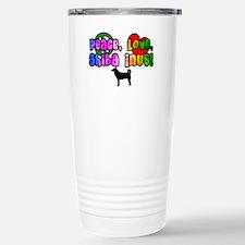 Hippie Shiba Inu Stainless Steel Travel Mug