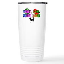 Hippie Shiba Inu Travel Coffee Mug