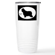 Bearded Collie Silhouette Travel Mug