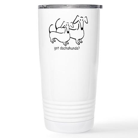 got dachshunds? Stainless Steel Travel Mug