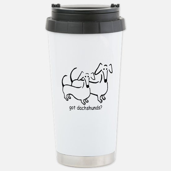 got dachshunds? Stainless Steel Travel Mug