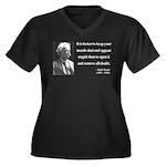 Mark Twain 41 Women's Plus Size V-Neck Dark T-Shir