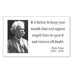 Mark Twain 41 Rectangle Sticker
