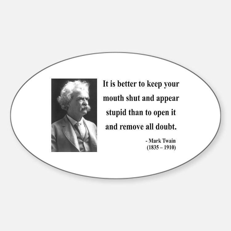Mark Twain 41 Oval Decal