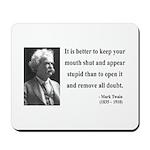Mark Twain 41 Mousepad
