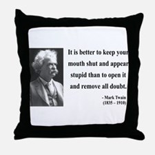 Mark Twain 41 Throw Pillow